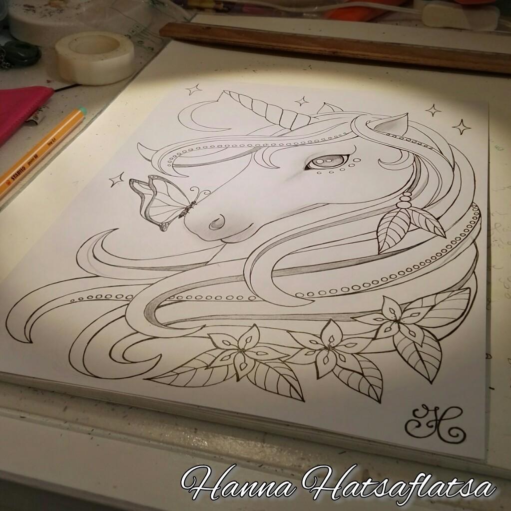 Eenhoorn Kleurplaat