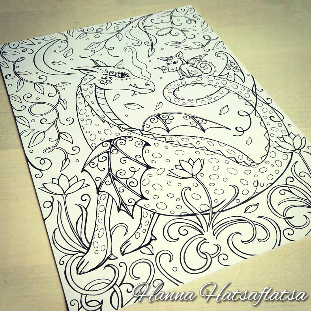 drakenmoeder kleurplaat hatsaflatsa