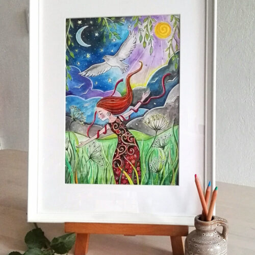 Origineel werk: Zo vrij als een vogel